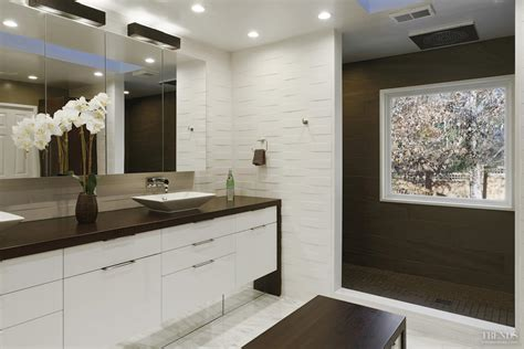 White Textured Bathroom Tiles by Modern White Bathroom With Textured Tiles Shower Zone And