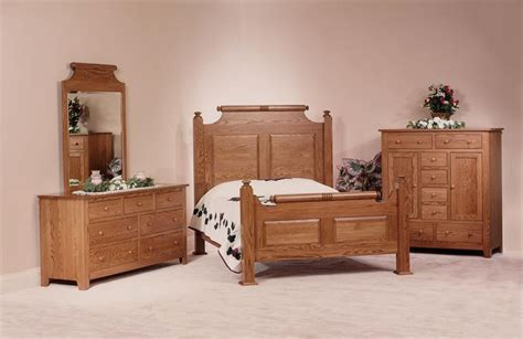 county oak wood bedroom set amish made