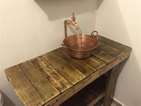 plomeria de cobre lavabo hecho con un cazo de lat 243 n tuber 237 a de cobre y