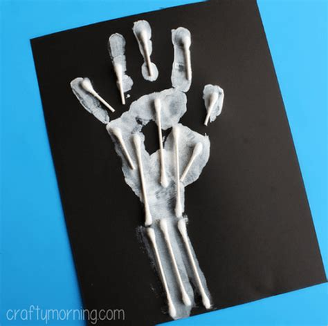 q tip skeleton craft template 22 unique q tip crafts learning activities