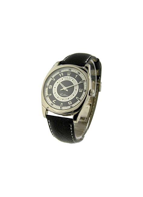Rolex Cellini Silver White Leather 4243 9 rolex cellini danaos mens xl essential watches