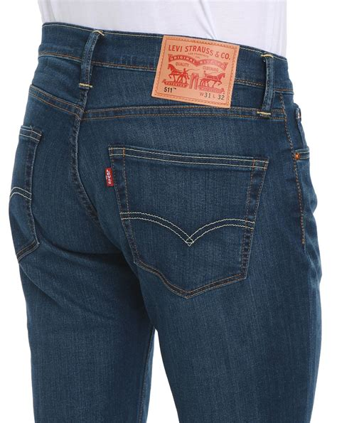 levi s 511 light stonewash levi s 511 slim fit stone washed jeans in blue for men lyst