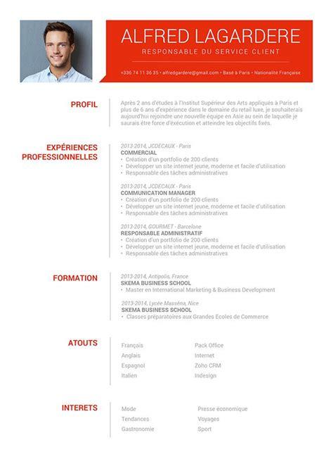 curriculum vitae exemple design bon cv travail saisonnier cv 183 mycvfactory