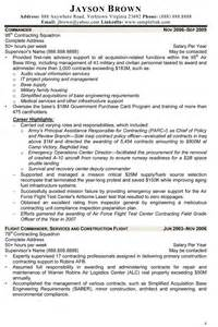 contract specialist cover letter the best in writing federal resumes