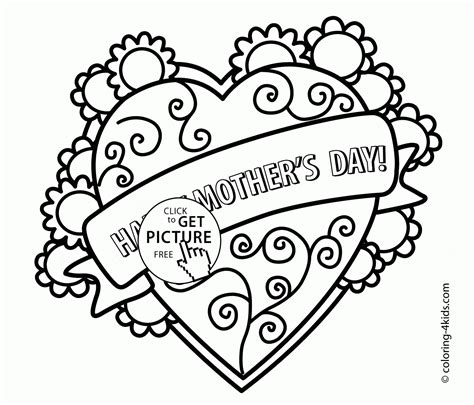 mother s day coloring page for kids coloring pages