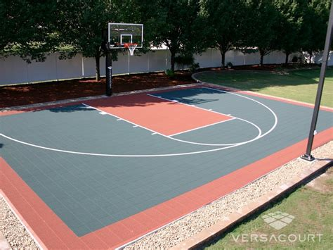Backyard Basketball by Versacourt Indoor Outdoor Backyard Basketball Courts