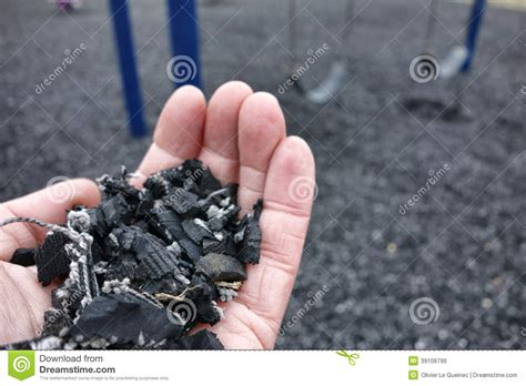 shredded recycled tire floor for playground safety stock