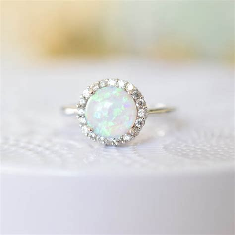 welcome october with sterling silver opal rings