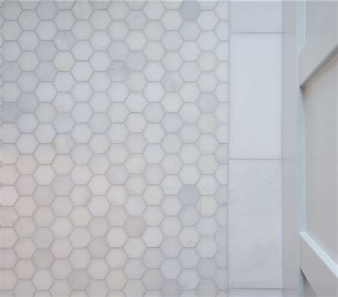 marble hex tile bathroom floor stylish family home with transitional interiors home