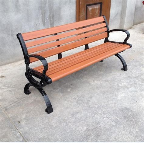 pvc bench seat wpc park chairs outdoor leisure chair pvc plastic wood