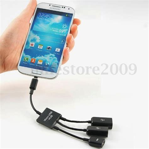 android tablet with usb port 3 port power micro usb otg hub adapter cable cord for android tablet pc phones ebay