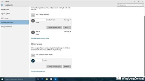 Can T Create Play Store Account How To Manage Microsoft And User Accounts In Windows 10