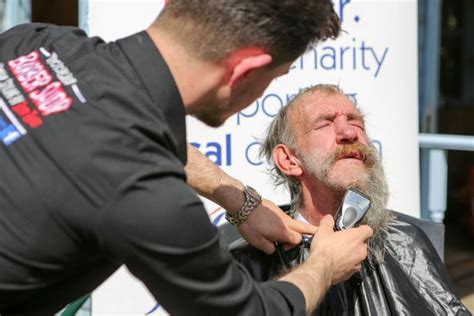haircuts for sick and disabled watch the moment a gloucester homeless man had his beard