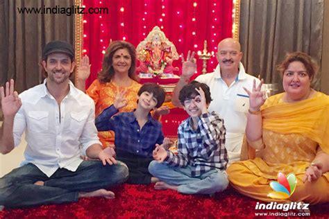 malayalam actor ganapathi and family hrithik roshan celebrates ganapati with family bollywood
