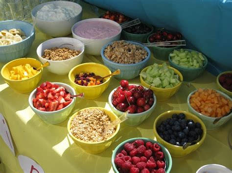 yogurt bar toppings yogurt bar breakfast pinterest