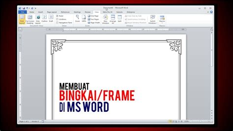 membuat frame undangan membuat bingkai frame di ms word tutorial youtube
