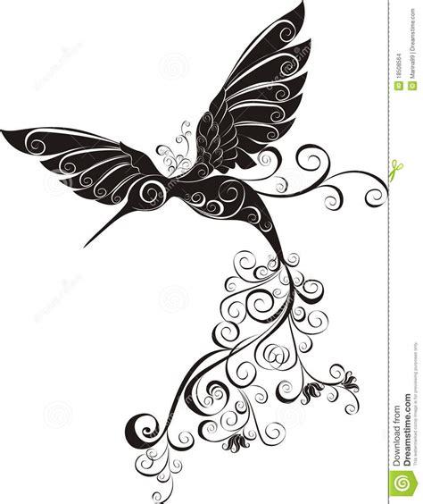 ilustraci 243 n gratis aves flor fondo blanco y negro colibr 237 imagenes de archivo imagen 18508564