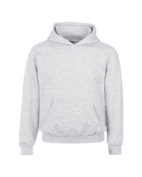 Jumper Unisex Light Grey by Gildan Heavy Blend Youth Lined Hooded Sweatshirt