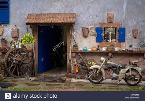 oltimer garage oldtimer garage philippsburg vosges stock photo