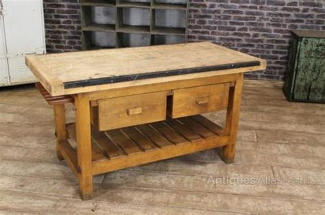 kitchen work table island antiques atlas vintage kitchen island work bench table
