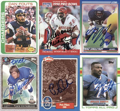 Jack Allen S Gift Card - lot detail lot of 27 signed football cards all in the pro fb hof