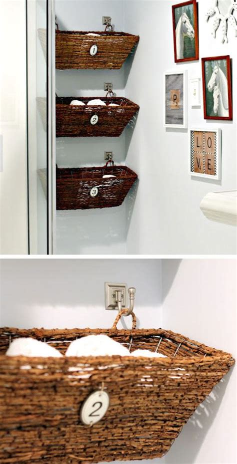 diy bathroom storage handspire 20 diy bathroom storage ideas for small spaces