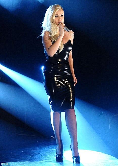 Shiny Fashion Tvs 25 High Challenge katherine jenkins wows the crowds in ultra tight pvc dress