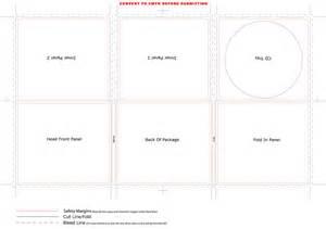 cd case dimensions inches cd digi case 6 panel template