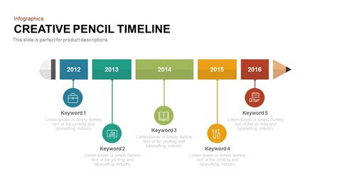 sle business timeline creative pencil timeline powerpoint template keynote