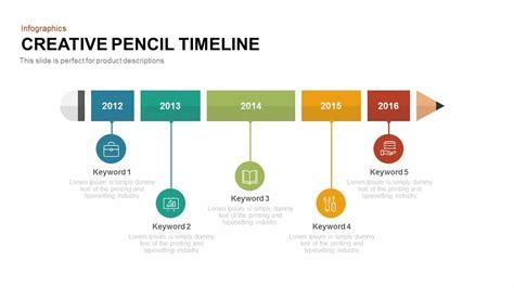 creative pencil timeline powerpoint keynote slidebazaar