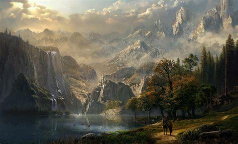 skyrim landscape wallpapers gamers wallpaper p