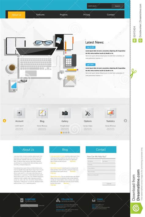 Modern Business Website Template Design Stock Vector Image 52413424 Modern Business Website Templates