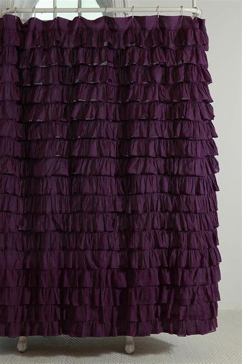 Gray Ruffle Shower Curtain by Waterfall Ruffle Shower Curtain