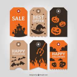 Trick Or Treat Bags Halloween Tags Vector Free Download