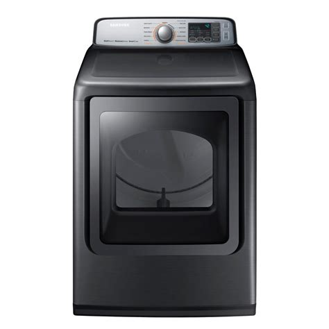 samsung dryer samsung 7 4 cu ft gas dryer with steam in platinum energy dvg50m7450p the home depot