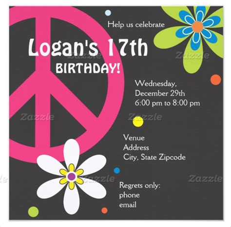 25 teenage birthday invitation templates free sle