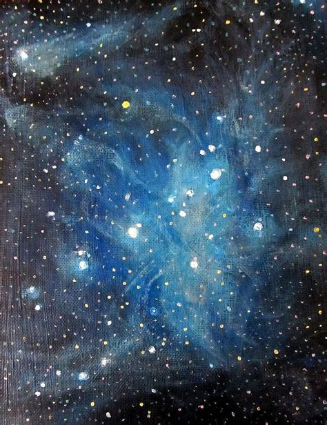 acrylic painting space messier 45 pleiades constellation painting by alizey khan