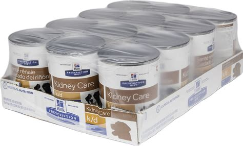 kidney care food hill s prescription diet k d kidney care with chicken canned food 13 oz of