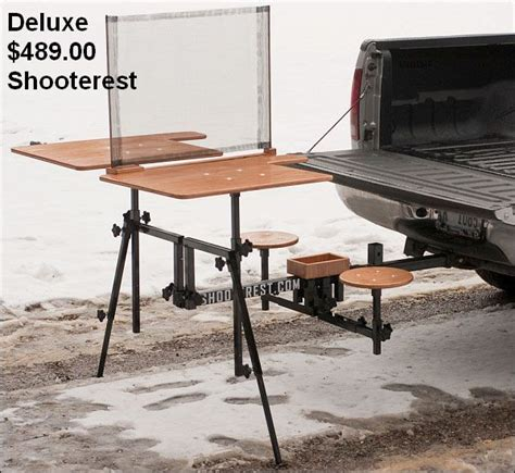 hitch bench shooterest shooting bench hitch mounted gun and shooting