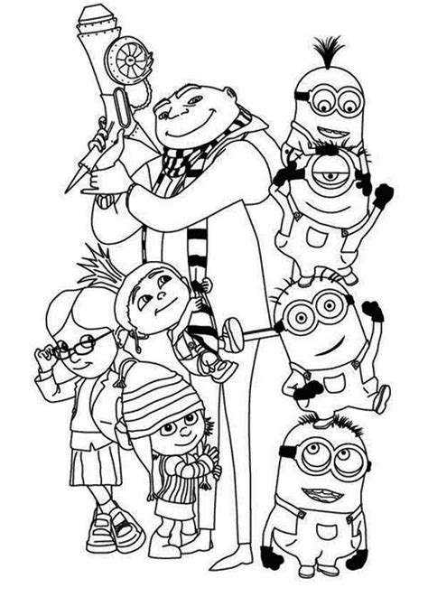 yellow minion coloring page 248 best images about minions coloring pages on pinterest