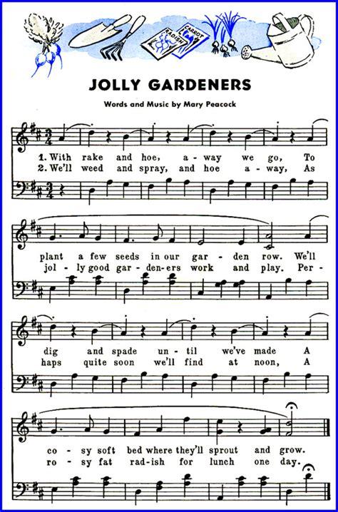 the pattern jolly lyrics jolly gardeners song lyrics sheet music purple kitty
