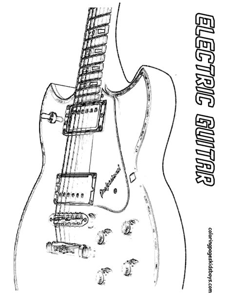 free coloring pages electric guitar free coloring pages of acoustic electric guitar