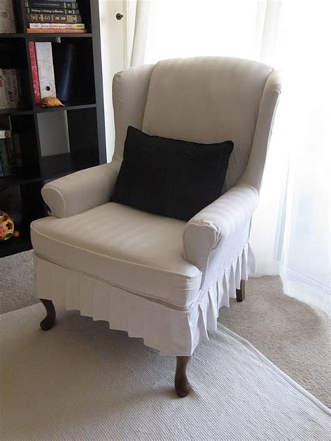 slipcover for a wingback chair my wing chair slipcover reveal