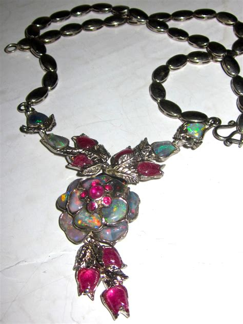 Handmade Opal Jewelry - graham australian handmade opal necklace