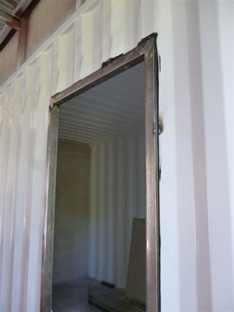 How To Install Door Frame by How To Build Your Own Shipping Container Home Doors