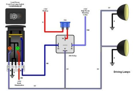 fog light relay harness wiring diagram schematic
