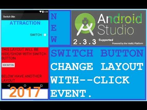 android studio button change layout android studio tutorial android switch button exle