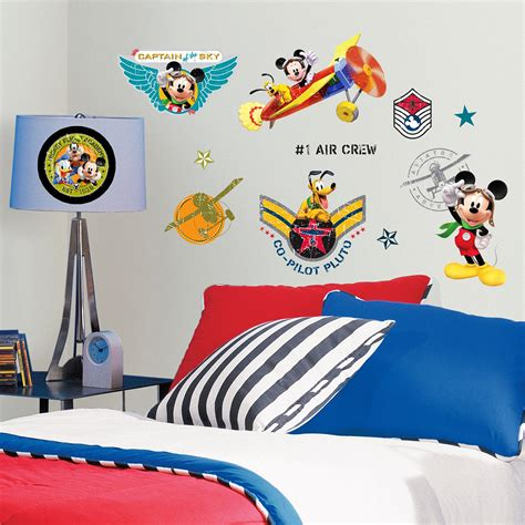 Wandtattoo Kinderzimmer Mickey Mouse by Roommates Wandsticker Mickey Mouse Pilot Mickey Mouse