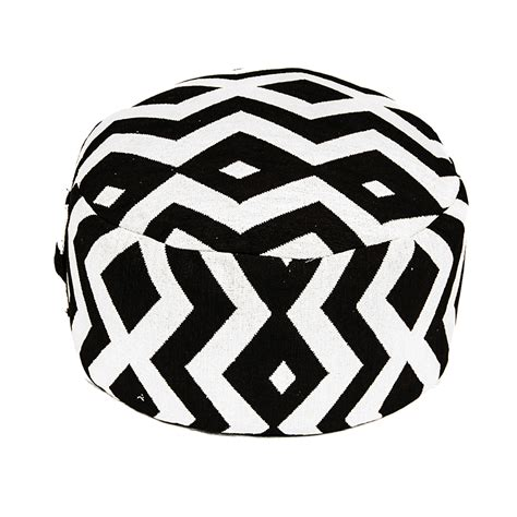 black and white ottoman black and white patterned ottoman corvallis