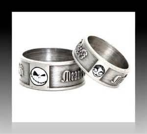 nightmare before wedding rings nightmare before sally engagement ring set w